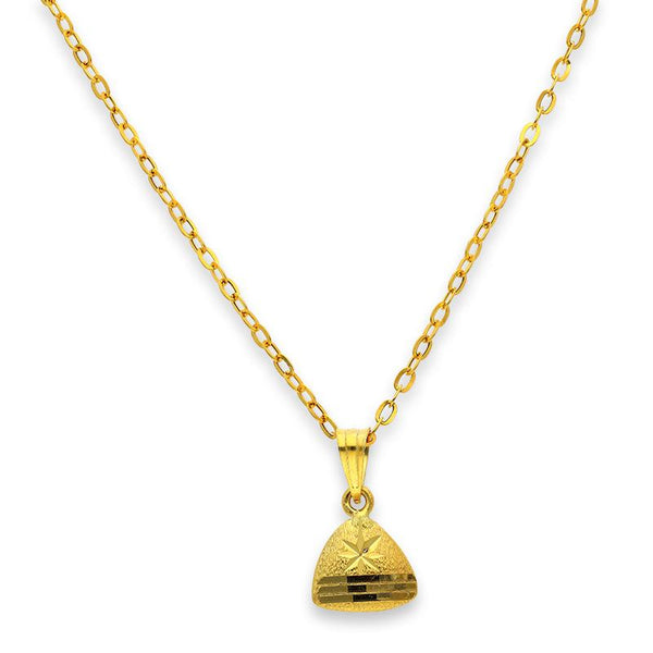 Gold Pendant Set (Necklace and Earrings) 18KT - FKJNKLST18K2237