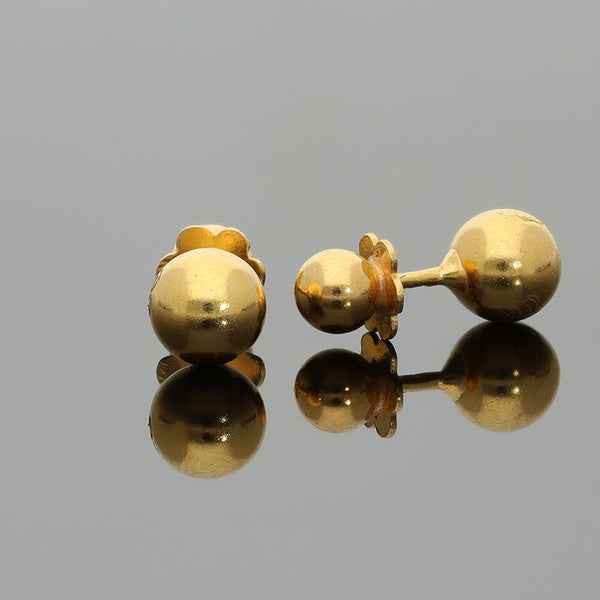 Gold Balls Stud Earrings 21KT - FKJERN21K2170