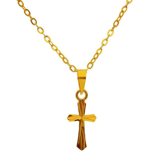 Gold Necklace (Chain with Cross Pendant) 18KT - FKJNKL1204