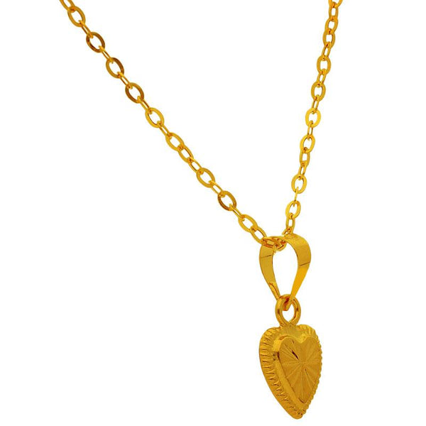 Gold Necklace (Chain with Heart Pendant) 18KT - FKJNKL1727