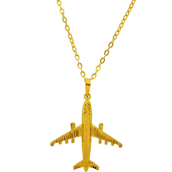 Gold Necklace (Chain with Airplane Pendant) 18KT - FKJNKL1944