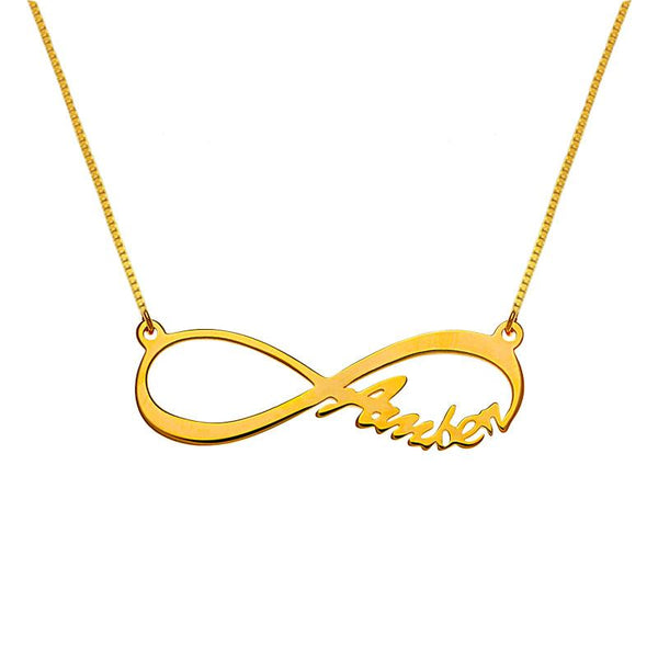 Gold Infinity Name Necklace 18KT - FKJNKL1936