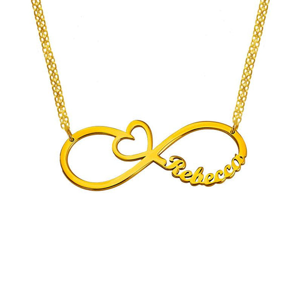 Gold Infinity Name Necklace 18KT - FKJNKL1938