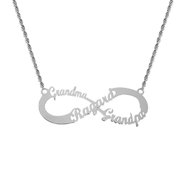 Silver 925 Infinity Name Necklace - FKJNKL1932