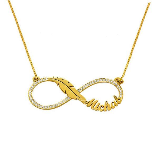 Gold Infinity Name Necklace 18KT - FKJNKL1937