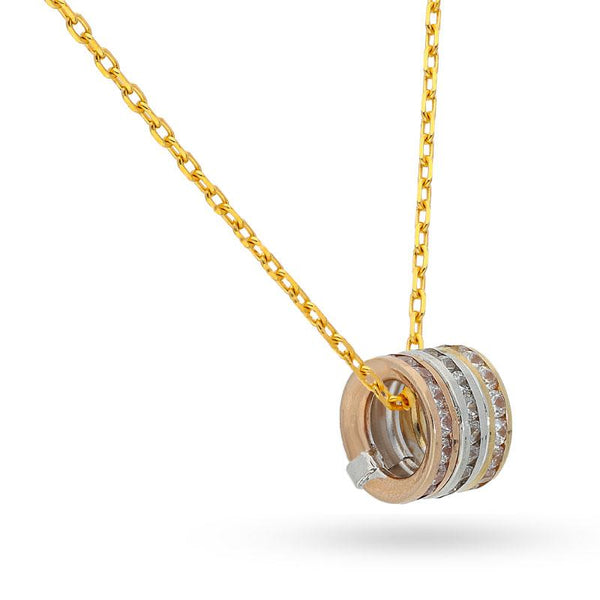 Rings Necklace in 18KT Tri-Gold - FKJNKL18K2041