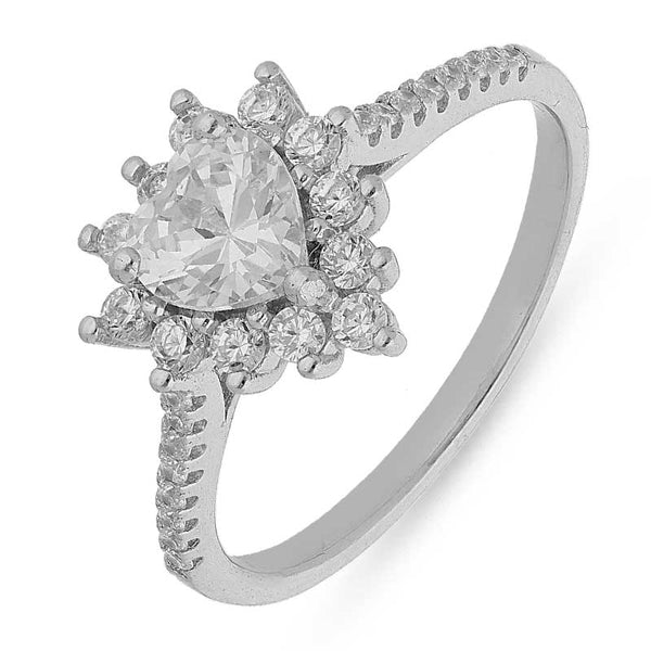 Italian Silver 925 Solitaire Ring - FKJRNSL2460