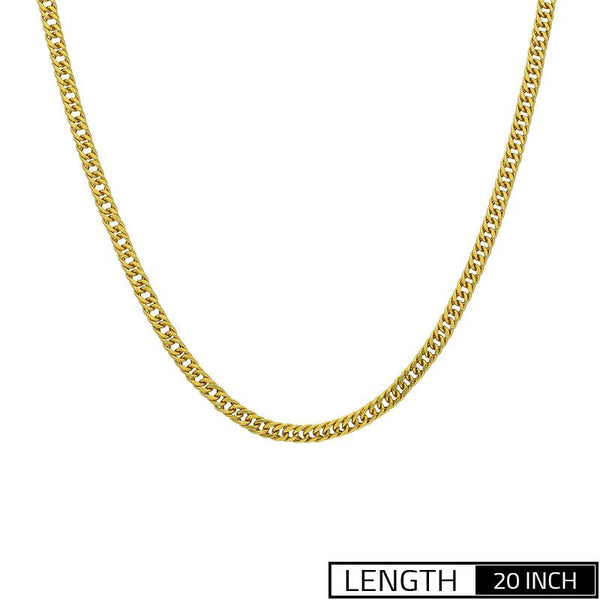 Gold Flat Link Chain 18KT - FKJCN2057