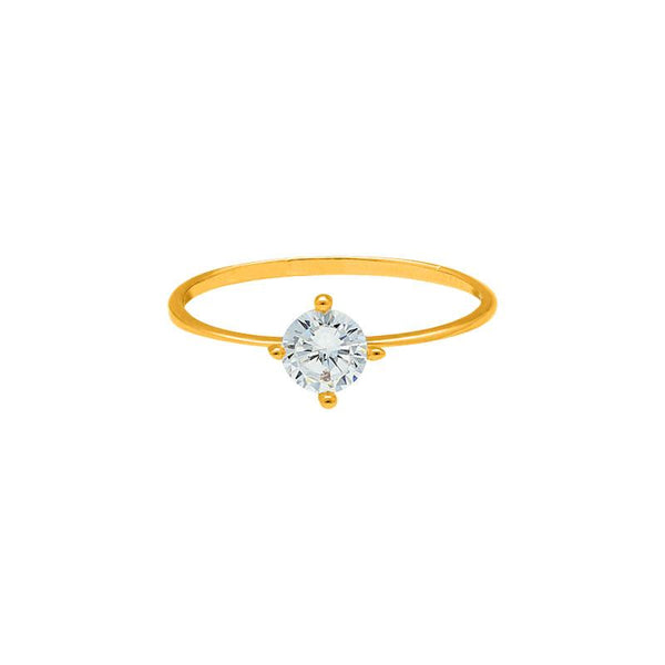 Gold Solitaire Ring 18KT - FKJRN1302