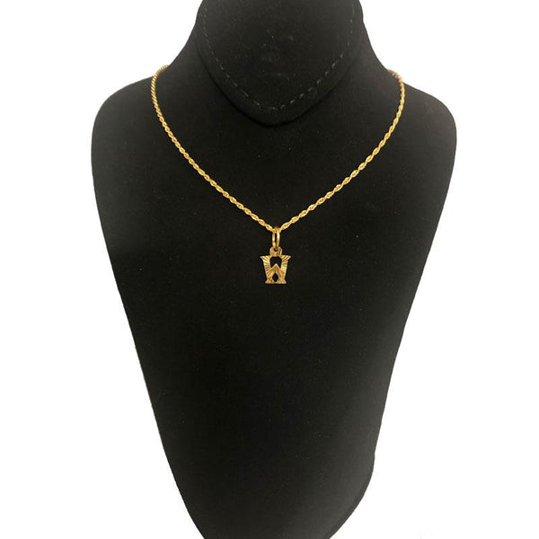 Gold Necklace (Chain with Alphabet Pendant) 18KT - FKJNKL1468