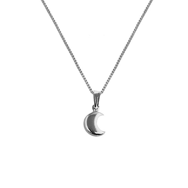 Silver 925 Necklace (Chain with Half Moon Pendant) - FKJNKL1862