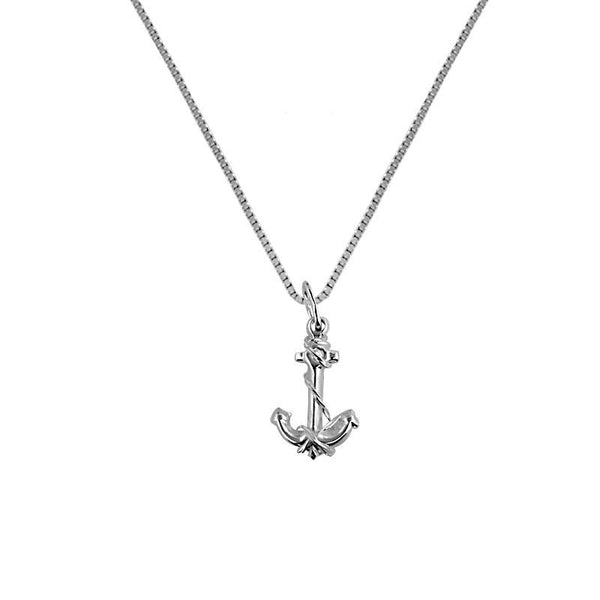 Silver 925 Necklace (Chain with Anchor Pendant) - FKJNKL1863