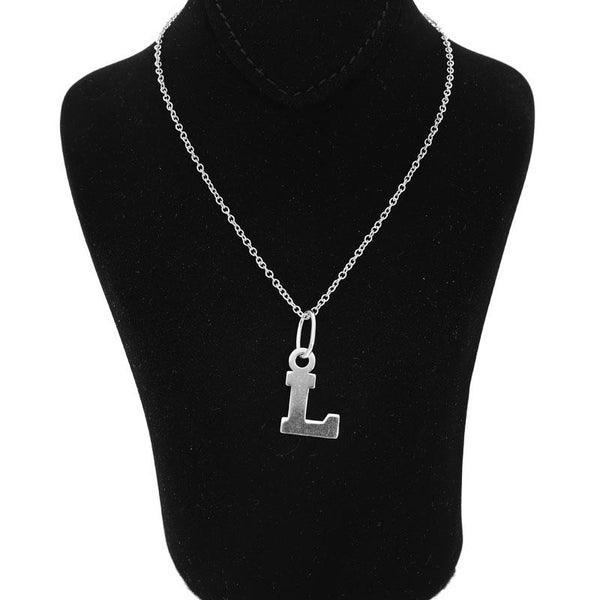 Italian Silver 925 Necklace (Chain with Alphabet Pendant) - FKJNKLSL2002