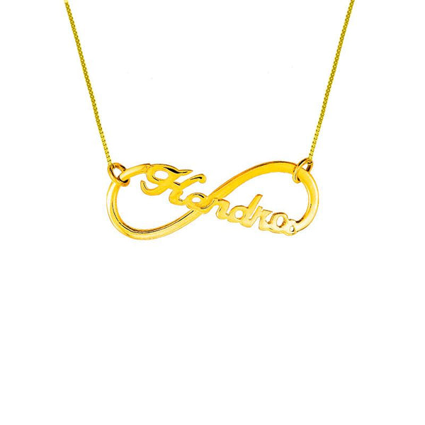 Gold Infinity Name Necklace 18KT - FKJNKL1935