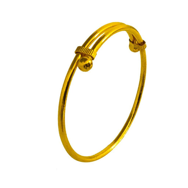 Gold Baby Bangle 22KT - FKJBNG1863-fkjewellers