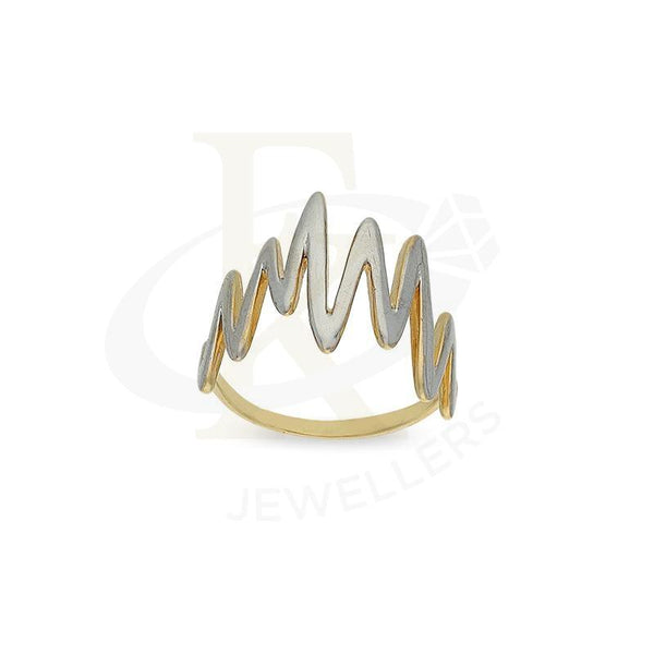 Gold Dual Tone Heartbeat Shaped Ring 18Kt - Fkjrn18K2567 Rings