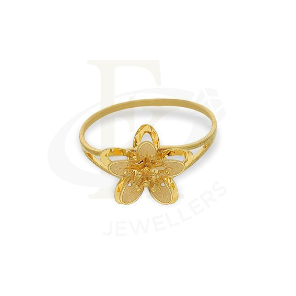 Gold Flower In Star Shaped Ring 21Kt - Fkjrn21K2608 Rings