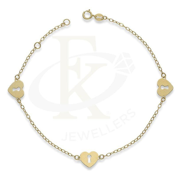 Gold Heart Lock Shaped Bracelet 18Kt - Fkjbrl18K2408 Bracelets
