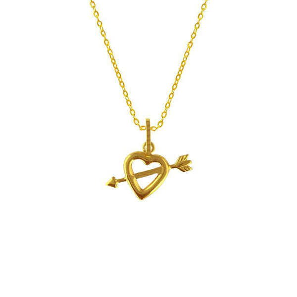Gold Heart Necklace (Chain with Pendant) 18KT - FKJNKL1614-fkjewellers