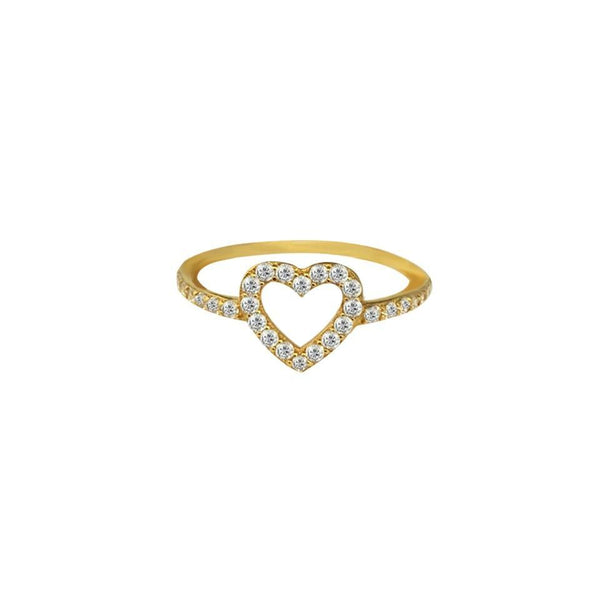 Gold Heart Ring 18KT - FKJRN1474-fkjewellers