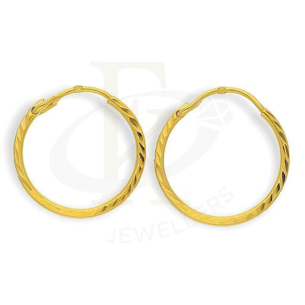 Gold Hoop Earrings 22Kt - Fkjern22K2210
