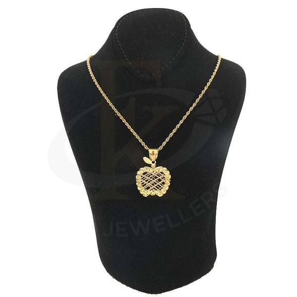Gold Necklace (Chain With Apple Shaped Pendant) 21Kt - Fkjnkl21K2226 Necklaces