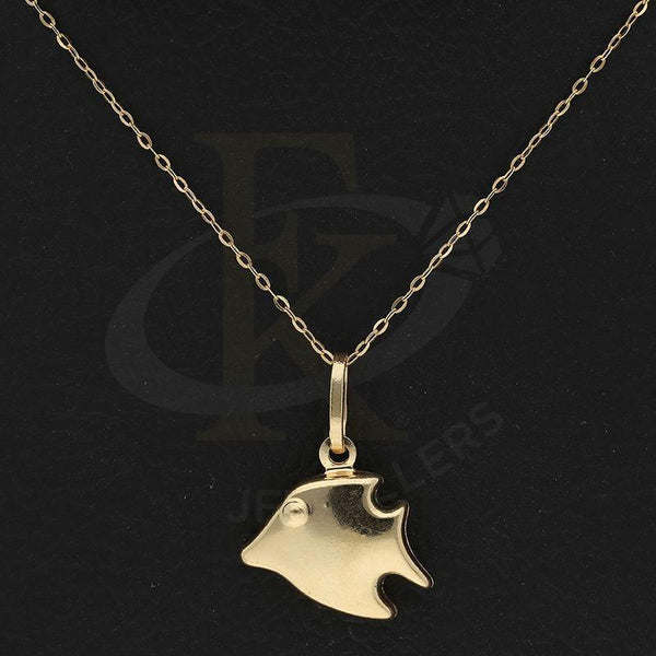 Gold Necklace (Chain With Butterfly Fish Shaped Pendant) 18Kt - Fkjnkl18K2252 Necklaces