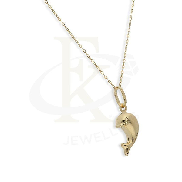 Gold Necklace (Chain With Dolphin Shaped Pendant) 18Kt - Fkjnkl18K2253 Necklaces