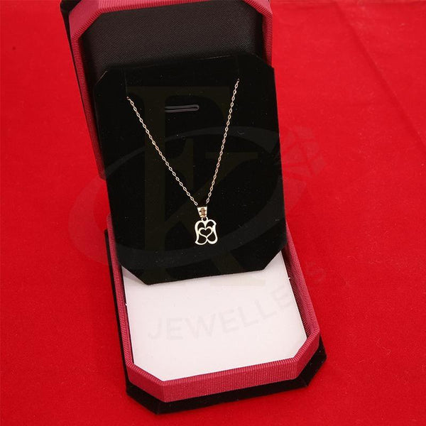 Gold Necklace (Chain With Heart Pendant) 18Kt - Fkjnkl18K2328 Necklaces