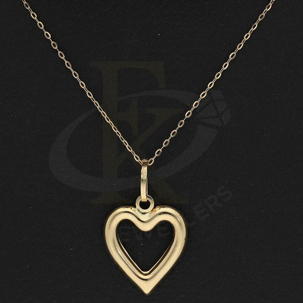 Gold Necklace (Chain With Heart Shaped Pendant) 18Kt - Fkjnkl18K2257 Necklaces