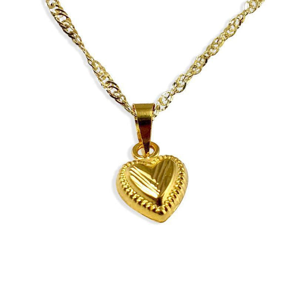 Gold Necklace (Chain with Pendant) 18KT - FKJNKL1150-fkjewellers