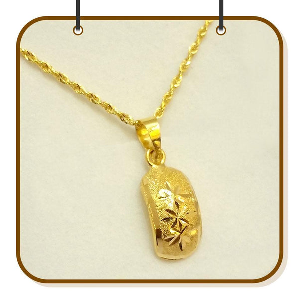 Gold Necklace (Chain with Pendant) 18KT - FKJNKL1205-fkjewellers