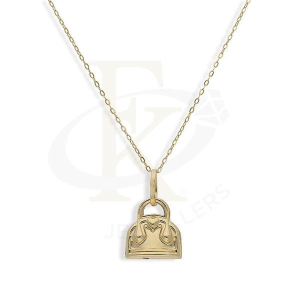 Gold Necklace (Chain With Purse Shaped Pendant) 18Kt - Fkjnkl18K2249 Necklaces