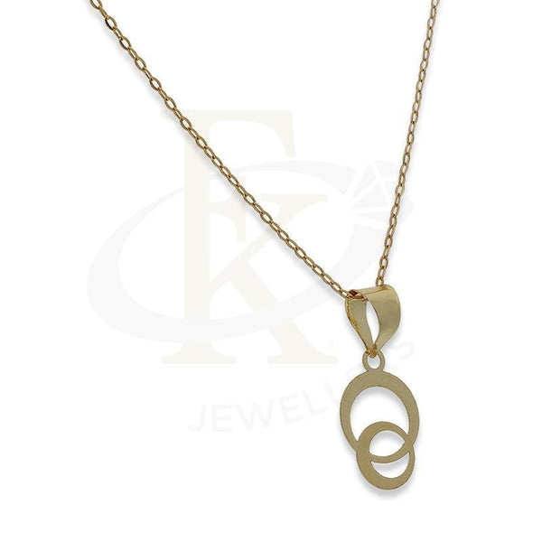 Gold Necklace (Chain With Rings Pendant) 18Kt - Fkjnkl18K2333 Necklaces
