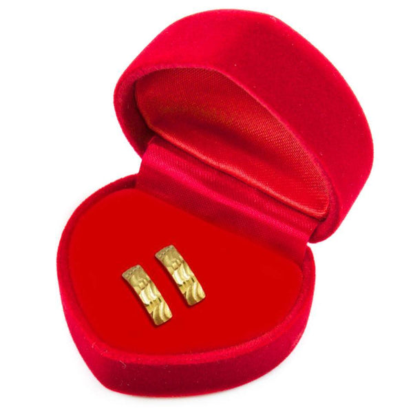 Gold Stud Clip Earrings 18KT - FKJERN1409-fkjewellers