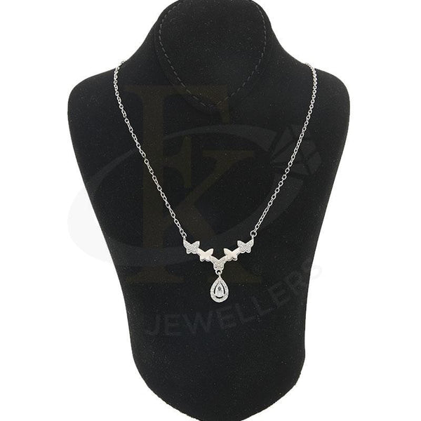 Italian Silver 925 Butterflies With Hanging Pear Necklace - Fkjnklsl2200 Necklaces