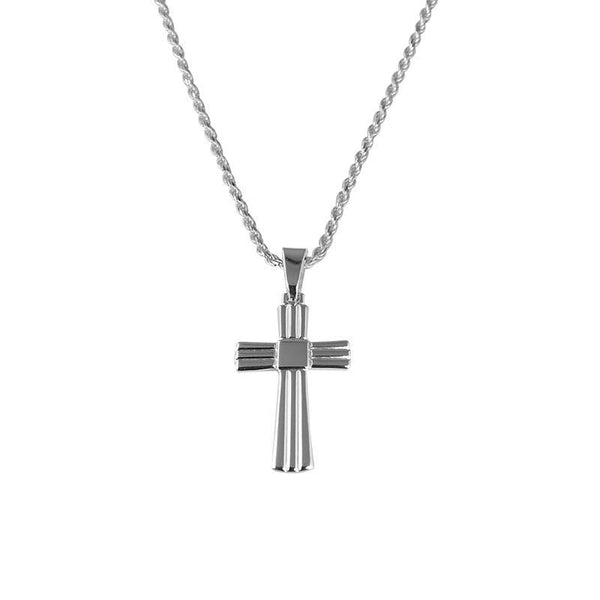 Italian Silver 925 Necklace (Chain with Cross Pendant) - FKJNKL1708-fkjewellers