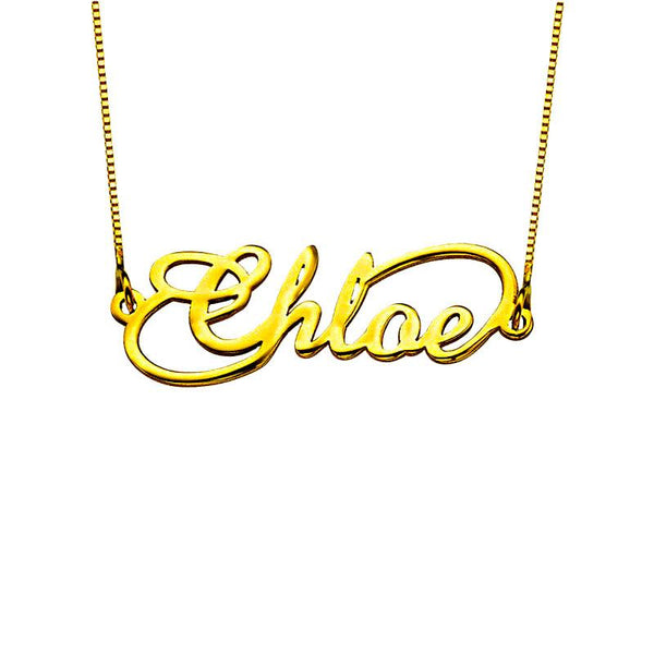 Gold Infinity Name Necklace 18KT - FKJNKL1934