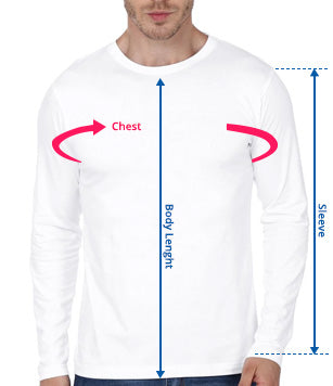 Men Long Sleeves Size Guide