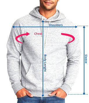 Men hoodies Size Guide