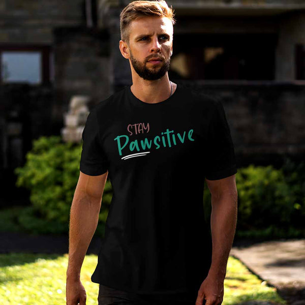 Stay PAWsitive Dog tshirt Leoliy