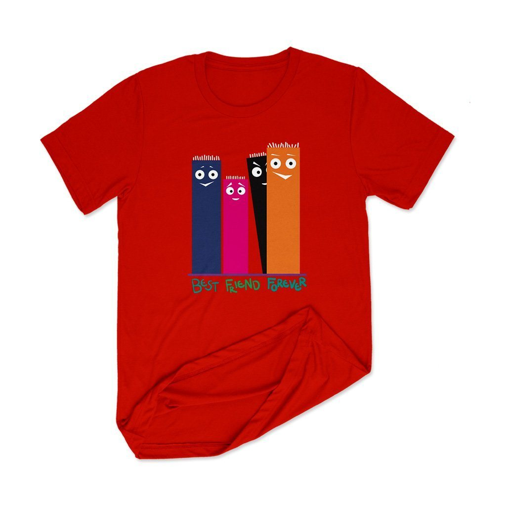 Best Friend Forever : Tshirt online India T Shirt Leoliy S Red