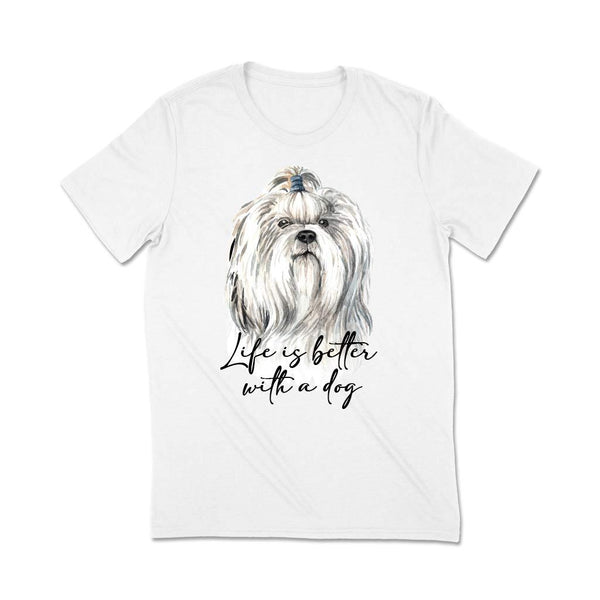 Dog print t-shirts India T Shirt Leoliy S White
