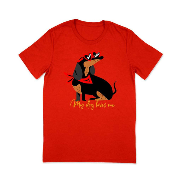 Women pet lover t-shirt T Shirt Leoliy S Red