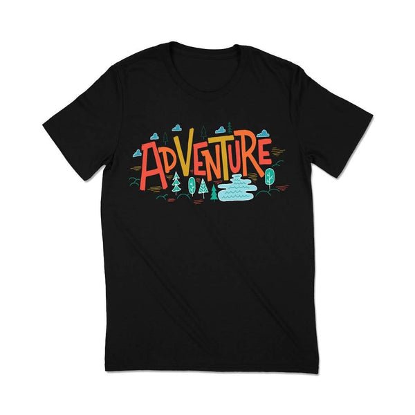 Women adventure travel Tshirt T Shirt Leoliy S Black