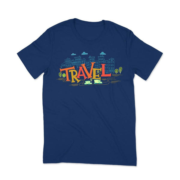 Women travel t shirt India T Shirt Leoliy S Navi Blue