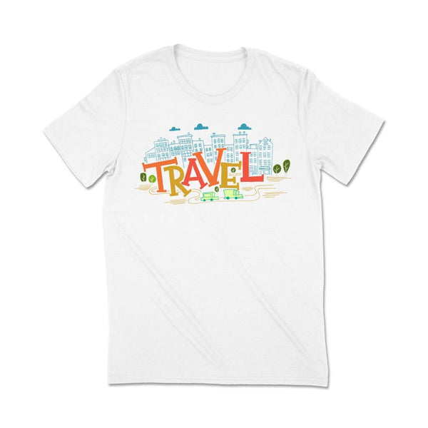 Travel t shirt India T Shirt Leoliy S White