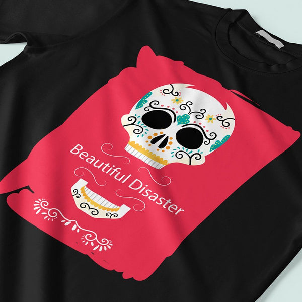 Beautiful Disaster : Stylish t shirts for men T Shirt Leoliy