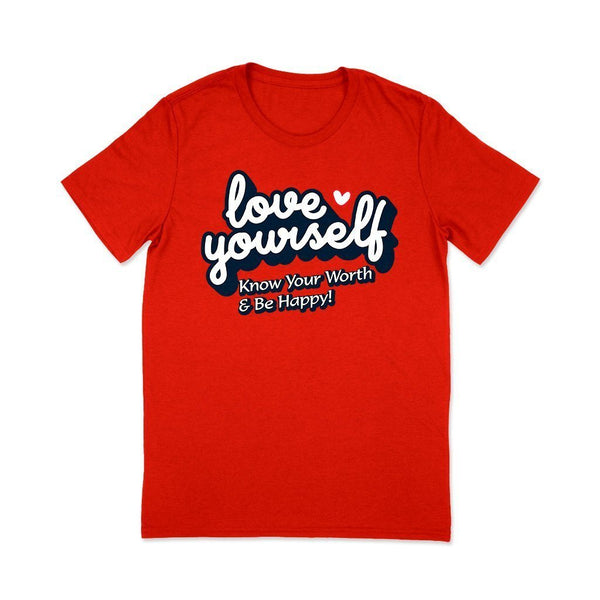 Printed T-shirts for Women : Love T Shirt Leoliy S Red