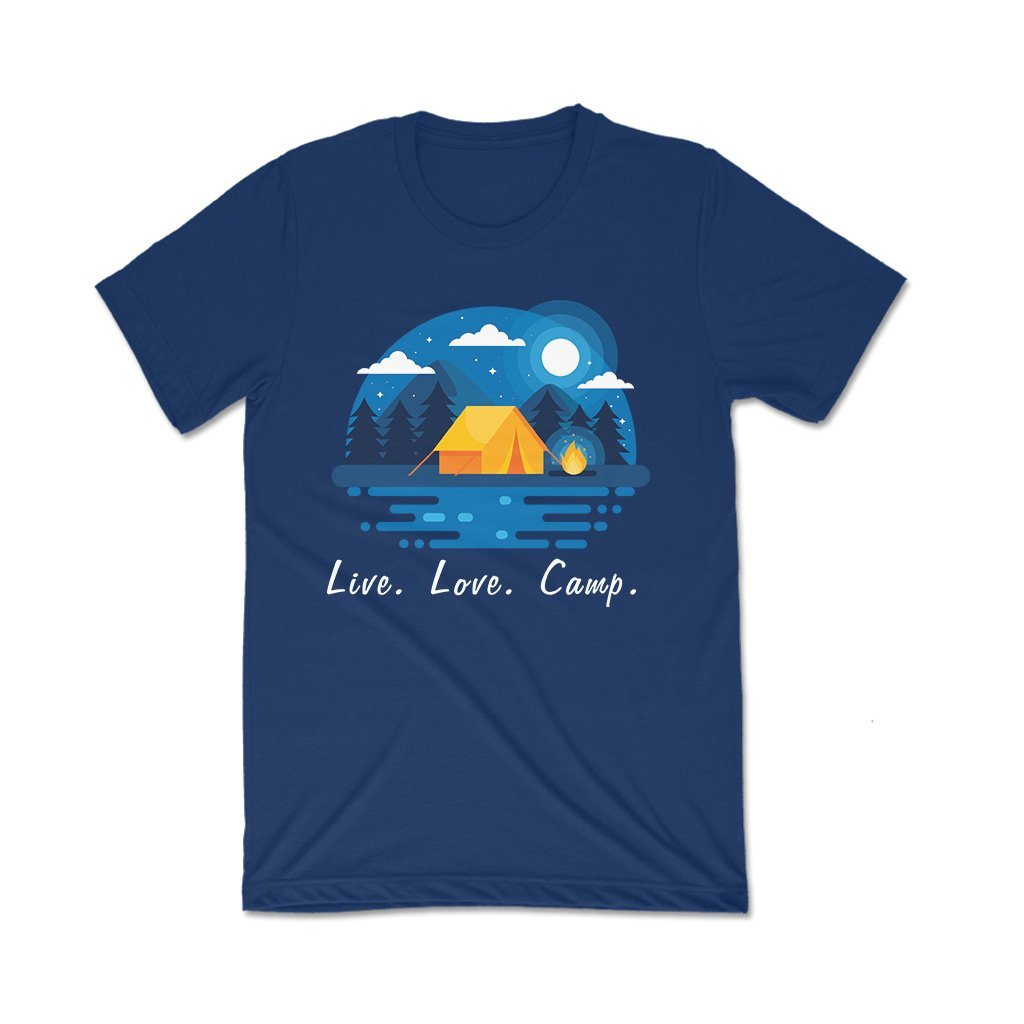 Live Love Camp : t shirts online India T Shirt Leoliy S Navi Blue